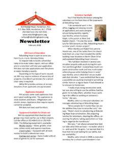 thumbnail of RHI- February 2018 Newsletter