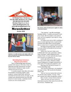 thumbnail of RHI- October 2018 Newsletter