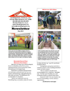 thumbnail of RHI- May 2019 Newsletter